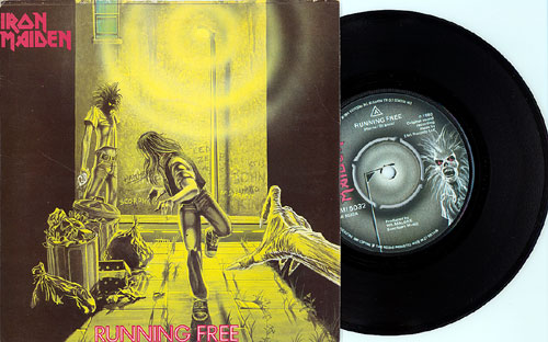Iron Maiden / Running Free 7 inch single