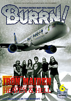 BURRN!2009年6月号~表紙はアイアン・メイデンとエド・フォース・ワン